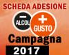 Scheda adesione Campagna meno alcol PIU' GUSTO 2017